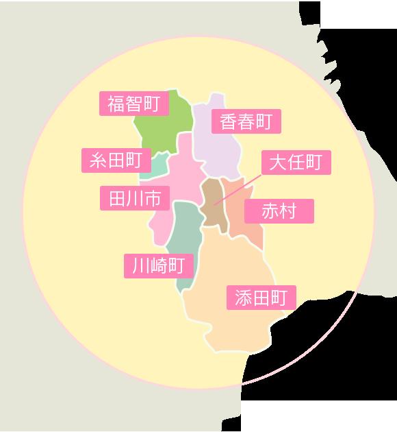 田川地区の地図